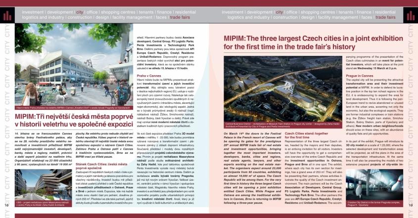 MIPIM: Tři největší česká města poprvé v historii veletrhu ve společné expozici