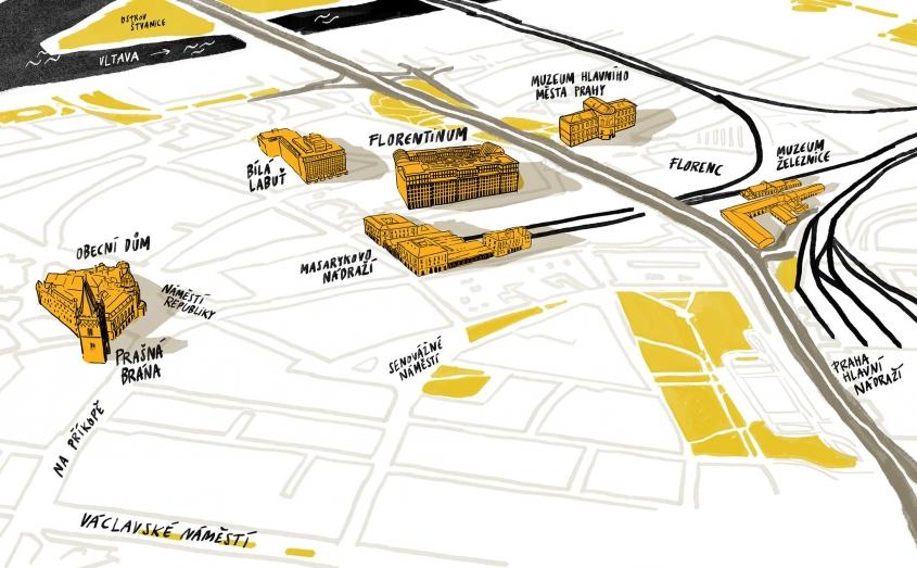 Proměny území Masarykova nádraží a ulice Na Poříčí - 23.5. v Divadle Archa