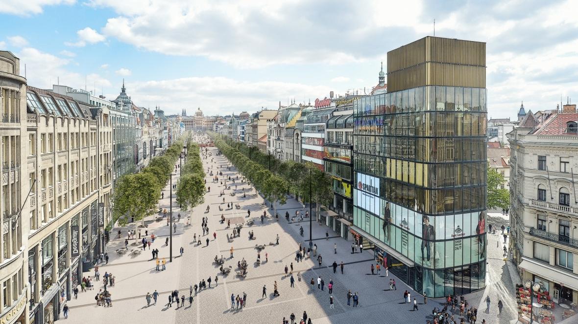 Proměna Václavského náměstí ve staveniště už na jaře
