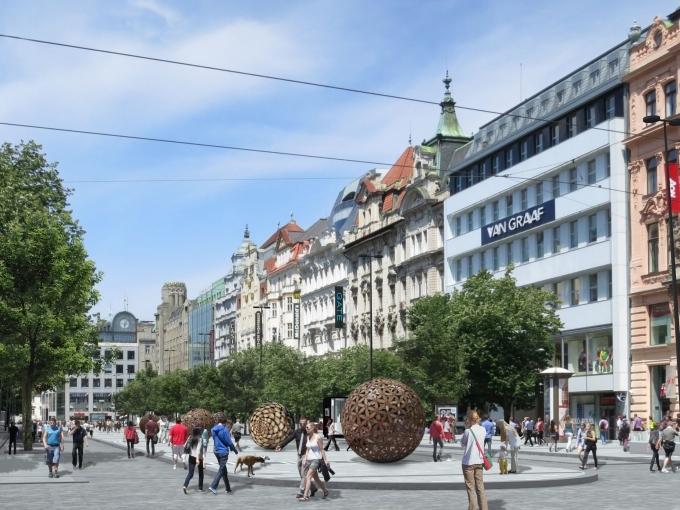 Úpravy spodní části Václavského náměstí začnou v roce 2018
